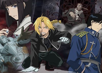 Fullmetal Alchemist, Elric Alphonse, Elric Edward, Roy Mustang - related desktop wallpaper