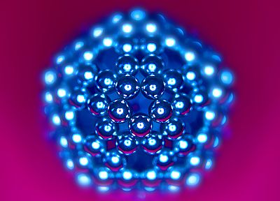 blue, shiny, geometry, macro, Buckyballs magnetics, NeoCube - desktop wallpaper