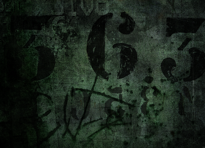 grunge, numbers - random desktop wallpaper