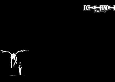 Death Note, light, wings, Ryuk, Yagami Light, simple background - desktop wallpaper