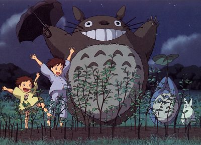 cartoons, Hayao Miyazaki, Totoro, animation, My Neighbour Totoro, artwork, Studio Ghibli, anime - related desktop wallpaper