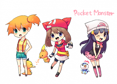 Pokemon, Misty (Pokemon), Psyduck, Torchic, Piplup - desktop wallpaper