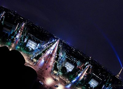 Paris, cityscapes, night, buildings, nightlights - desktop wallpaper