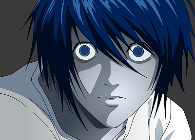 Death Note, L. - random desktop wallpaper