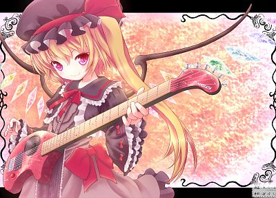 blondes, video games, Touhou, vampires, Flandre Scarlet - desktop wallpaper