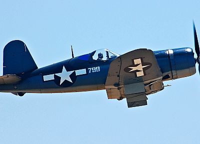 aircraft, military, World War II, Warbird, corsair, F4U Corsair, fighters, Chance Vought - desktop wallpaper