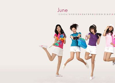 women, Girls Generation SNSD, Asians, Korean, calendar, K-Pop, shorts, white background - random desktop wallpaper