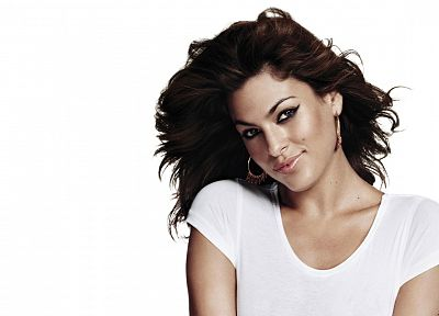 women, Eva Mendes, simple background - random desktop wallpaper