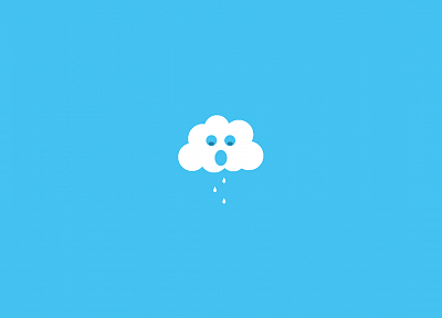 clouds, minimalistic - random desktop wallpaper