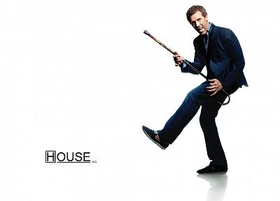 Gregory House, TV series, simple background, House M.D. - related desktop wallpaper