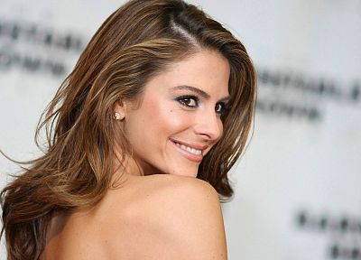 brunettes, women, actress, smiling, greek, Maria Menounos, tv personality - desktop wallpaper