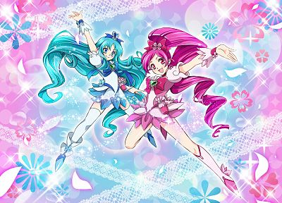 US Marines Corps, Pretty Cure - random desktop wallpaper