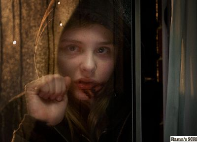 women, horror, movies, Chloe Moretz, Let Me In, window panes - random desktop wallpaper