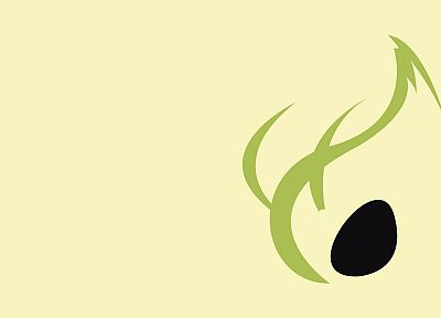 Pokemon, minimalistic, Celebi - desktop wallpaper