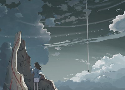 clouds, Makoto Shinkai, anime, The Place Promised in Our Early Days - desktop wallpaper