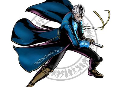 video games, artwork, Vergil, Marvel vs Capcom 3 - random desktop wallpaper