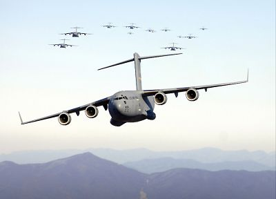 aircraft, military, cargo aircrafts, C-17 Globemaster - related desktop wallpaper