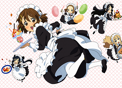 K-ON!, maids, anime girls - desktop wallpaper