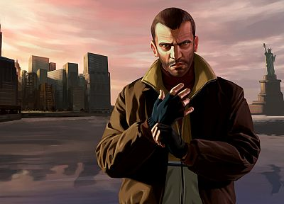 video games, Grand Theft Auto, Niko Bellic, GTA IV - related desktop wallpaper