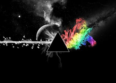 abstract, outer space, Pink Floyd, The Dark Side Of The Moon - random desktop wallpaper