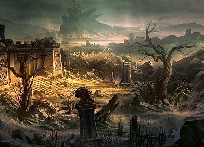 ruins, fantasy art, artwork - related desktop wallpaper
