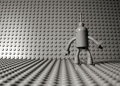 Futurama, Bender, Legos - random desktop wallpaper