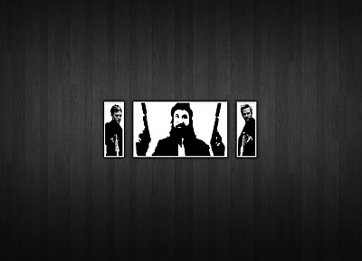 minimalistic, Boondock Saints, wood panels - random desktop wallpaper