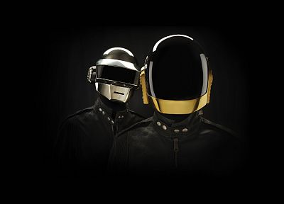 music, Daft Punk, black background - desktop wallpaper