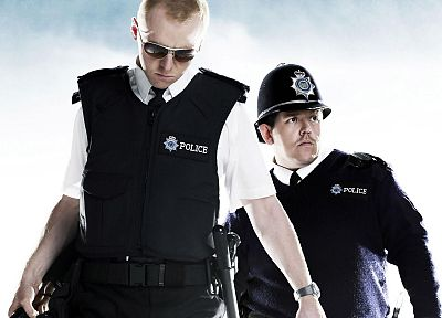 movies, Hot Fuzz, Simon Pegg, Nick Frost - random desktop wallpaper