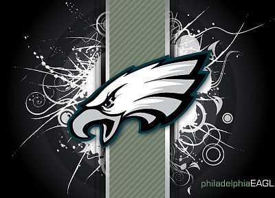 abstract, NFL, logos, Detroit Lions, Philadelphia Eagles - desktop wallpaper