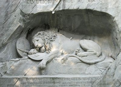 sculptures, lions, Lion Of Lucerne - random desktop wallpaper
