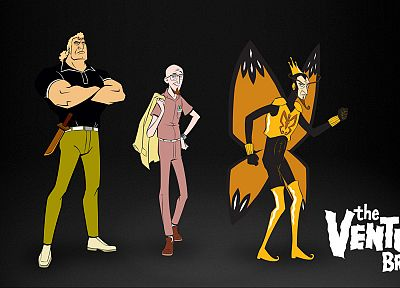 The Venture Bros., crowns, butterfly wings, The Monarch, Brock Samson, Dr. Venture - related desktop wallpaper