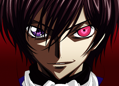 Code Geass, vectors, heterochromia, Lamperouge Lelouch, anime, purple eyes - random desktop wallpaper