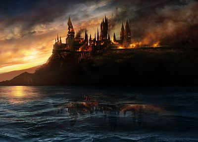 Harry Potter, Harry Potter and the Deathly Hallows, Hogwarts - random desktop wallpaper