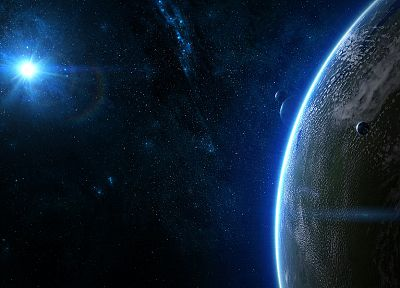 outer space, stars, galaxies, planets, DeviantART - related desktop wallpaper