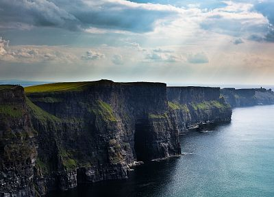 coast, cliffs, Ireland, Moher - desktop wallpaper