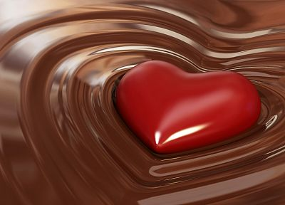 chocolate, food, sweets (candies), hearts - random desktop wallpaper