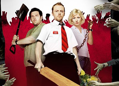 zombies, Shaun of the Dead - random desktop wallpaper