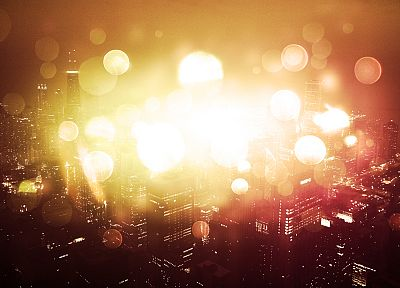 cityscapes, buildings, bokeh - related desktop wallpaper
