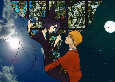 Halloween, Bleach, Kurosaki Ichigo, Kuchiki Rukia - related desktop wallpaper