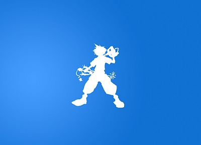 blue, Kingdom Hearts, Sora - random desktop wallpaper