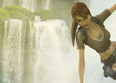 video games, Tomb Raider, dual screen, Lara Croft - desktop wallpaper