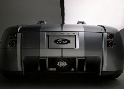 back, cars, Ford, silver, prototypes, convertible, Ford Shelby, Shelby 427 Cobra prototype - random desktop wallpaper
