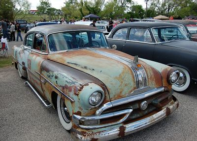 cars, Pontiac, rusted, Rat Rod - random desktop wallpaper