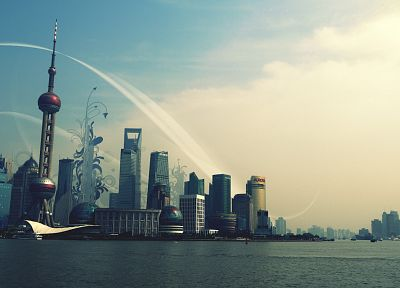 cityscapes, buildings, Shanghai - related desktop wallpaper