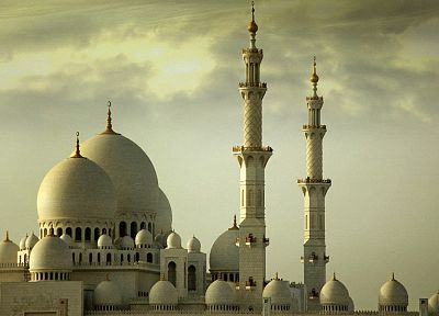 architecture, buildings, Islam, Abu Dhabi, mosques - desktop wallpaper