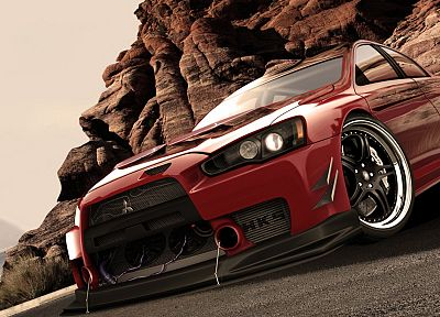 cars, Mitsubishi, vehicles, evo x concept, Mitsubishi Lancer Evolution X - desktop wallpaper