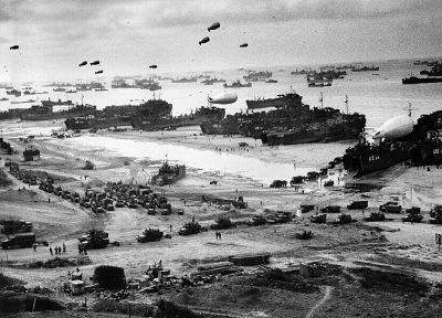 military, warfare, World War II, D-Day, monochrome - related desktop wallpaper
