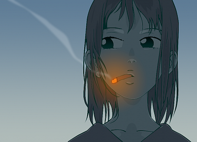 FLCL Fooly Cooly, simple background, Samejima Mamimi - related desktop wallpaper