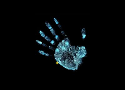 TV, palm, Fringe, fingerprints - random desktop wallpaper